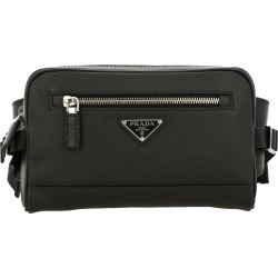 Belt Bag Prada Pouch In Saffiano Leather With Triangular Logo