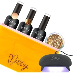 Mitty Gel Polish & Bling Kit - Nude Me - One
