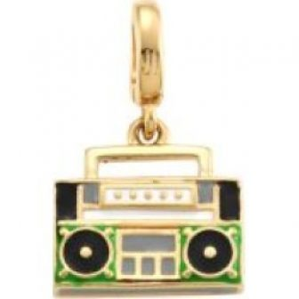 14K Goldplated Sterling Silver Boombox Single Charm