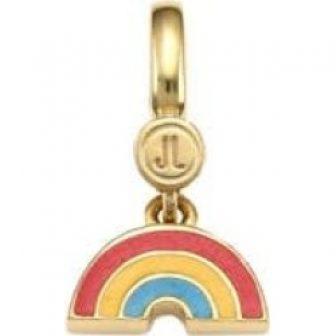 14K Goldplated Sterling Silver & Enamel Rainbow Charm