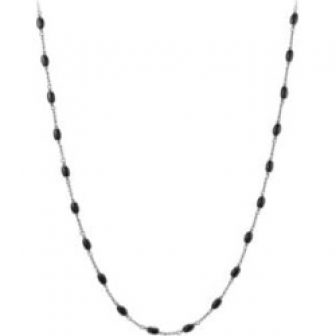 Beaded Sterling Silver Necklace