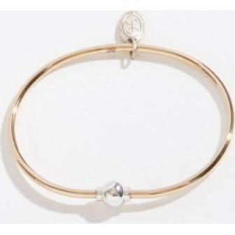Cape Cod Jewelry Reverse Two-Tone Single Ball Cape Cod Jewelry Collection Bracelet