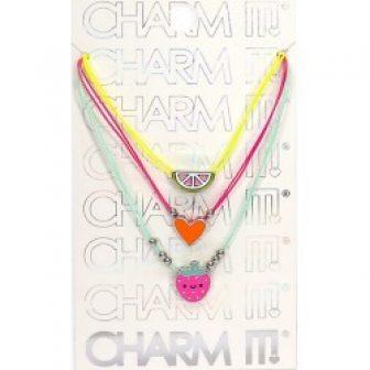 Charm It! 3-Piece Fruit Charm Necklace Set