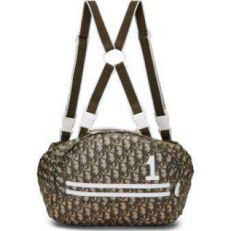 Christian Dior Green Nylon Trotter Canvas Bum Bag Backpack