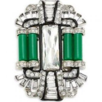 Crystal Deco Brooch