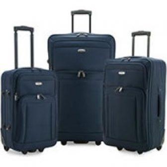 Elite Luggage Gondola 3-Piece Softside Rolling Luggage, Navy