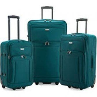 Elite Luggage Gondola 3-Piece Softside Rolling Luggage, Teal