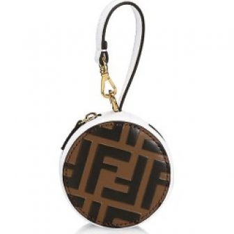 Fendi Women's Tamburo Pocket Leather Charm - Maya White