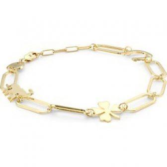 Jennifer Zeuner Jewelry Women's Emery 14K Yellow Gold Vermeil Good Luck Charm...