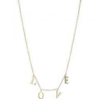 Jennifer Zeuner Jewelry Women's Love Charm Necklace - Gold