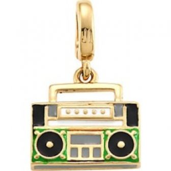 Judith Leiber Women's 14K Goldplated Sterling Silver Boombox Single Charm - Gold...