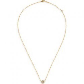 Lana Jewelry Flawless Pavé Diamond & 14K Yellow Gold Circle Charm Necklace...