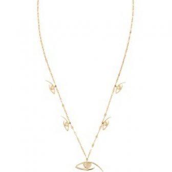 Lana Jewelry Women's 14K Yellow Gold & Diamond Evil Eye Charm Necklace...