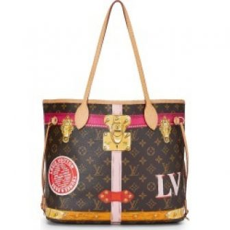 Louis Vuitton Monogram Canvas Trunks & Bags Neverfull MM In Brown