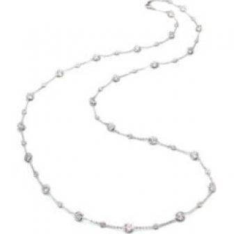 Stationed Bezel-Set Necklace