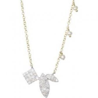 Teardrop Diamond Station Necklace