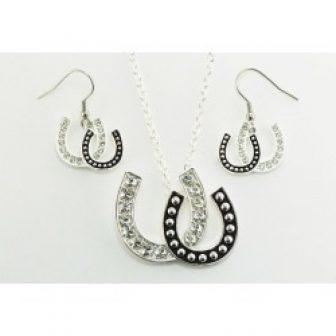 Western Edge Jewelry Double Horseshoe Jewelry Set