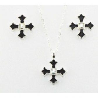 Western Edge Jewelry Filled Cross Jewelry Set