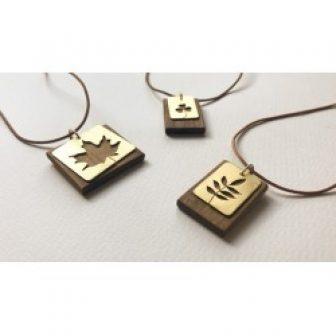 Wood and brass jewelry
